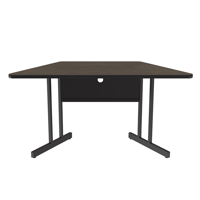 Correll ws3060tr desk height computer table 30 w x 60 l for Trapezoid table